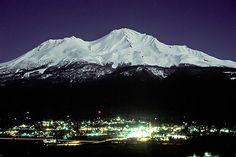 Mt. Shasta at night... I love going to lake Siskiyou which is right at the bottom of the mountain,