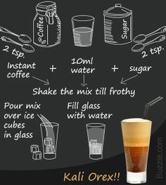 Recipe for Greek frappe-iced coffee - Φραπέ