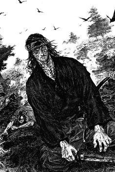 Manga Drawing, Manga Art, Comic Books Art, Comic Art, Martial Arts Manga, Vagabond Manga, Inoue Takehiko, Miyamoto Musashi, Samurai Art