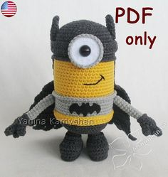 Flying Hero amigurumi crochet pattern