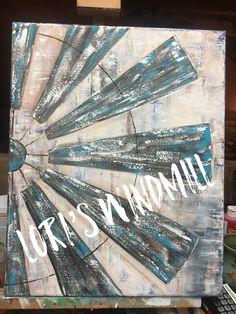#Lori4joy Etsy store Farmhouse Paintings, Barn Paintings, Windmill Wall Decor, Windmill Decor, Rustic Painting, Diy Painting, Farmhouse Books, Rustic Wall Art, Cow Art