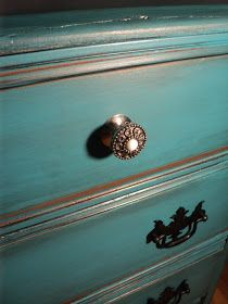 Simply Salvaged: Rust-Oleum Textured Metallic & a Turquoise Dresser