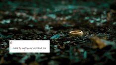 The Hobbit + text posts: The One Ring. Sherlock Quotes, Sherlock John, Watson Sherlock, Sherlock Holmes, Thranduil, Legolas, Hobbit Hole, The Hobbit, Whatever Forever