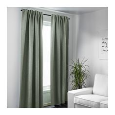 US – Furniture and Home Furnishings VILBORG Curtains, 1 pair IKEA The densely woven curtains darken the room and provide privacy by preventing people outside [. Velvet Curtains Bedroom, Apartment Curtains, Beige Curtains, Ikea Curtains, Home Curtains, Green Curtains, Curtains Living Rooms, Green Home Decor, Decoration Inspiration