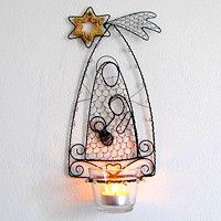 Christmas Nativity, Christmas Time, Holiday, Steel Art, Wire Crafts, Stained Glass Patterns, Wire Art, Handmade Accessories, Bead Art