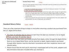 Apple reduce termenul standard pentru returnarea unui iPhone