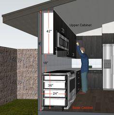 kitchen design // cabinet cross section // Steven Corley Randel, Architect