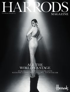 Harrods Magazine December 2014  It's Christmas. And that means showtime, as the spotlight falls on all things super-glamorous. Come the big day, if you'd love to unwrap a new bag we have an irresistible array, and if you're considering fragrance, there's no denying love is in the air – in the form of the most beautiful scents around.