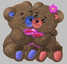 Cute Glitter Graphics | Cute Teddy Bear with wine toast glitter graphics for Myspace or Hi5 ...