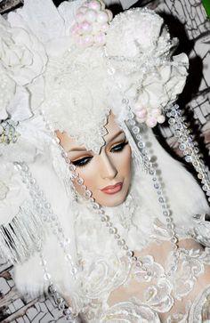 MADE TO ORDER Goddess of Snow Headdress princess queen white ice fantasy