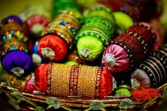 Great Idea for Mehndi/Sangeet - Bangles and Pillows...