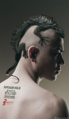 Amazing Hair Style.  I normally only pin cuts and stuff for me but this is so awesome. I wonder if hubby could pull it off?  He already has the mohawk.
