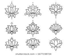 Lotus Flower Tattoo Design, Lotus Flower Mandala, Flower Tattoos, Small Lotus Tattoo, Lotus Mandala Design, Simple Lotus Flower Tattoo, Lotus Mandala Tattoo, Lotus Design, Body Art Tattoos