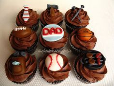 Create easy and effective themed father's day cupcakes with one of these Impressive Cupcakes for Men on Father's Day. Impressive Cupcakes for Men on Father's Day sure will impress your father. Fathers Day Cupcakes, Cupcakes For Men, Fathers Day Cake, Holiday Cupcakes, Yummy Cupcakes, Sweet Cupcakes, Fathers Day Lunch, Yummy Treats, Sweet Treats