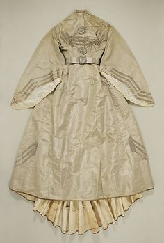 Afternoon Dress 1860, American, Made of silk