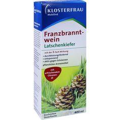 KLOSTERFRAU Franzbranntwein Latschenkiefer in Dosierflasche:   Packungsinhalt: 400 ml Franzbranntwein PZN: 05360826 Hersteller: MCM…
