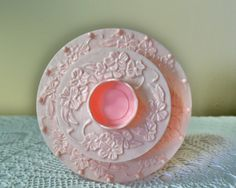 For sale is this ornate pink plastic sewing box or thread spool container. Very beautiful piece, this sewing container looks like a tiered cake! Art Nouveau Design, Pink Plastic, Thread Spools, Sewing Box, Pin Cushions, Vintage Pink, Great Gifts, Container, Group