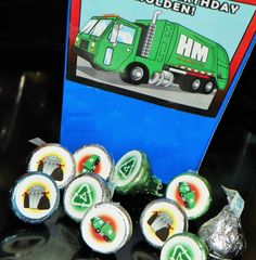 Garbage Truck Birthday Party Hershey Kisses by ReadySetCreate