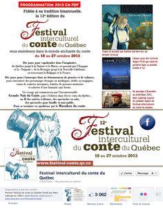 festival-conte.qc.ca   Du 18 au 27 octobre 2013 Quebec Canada