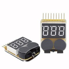 Easy to use Beeps when voltage reaches set level Ready Made RC 1 to 34v RMRC Battery Voltage Tester With Audio Alarm LiPo 1-8s