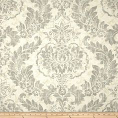 Covington Downton Blend Graphite from @fabricdotcom  Screen printed on a linen/rayon blend this medium/heavyweight fabric is very versatile and perfect for window treatments (draperies, valances, curtains, and swags), toss pillows and upholstery. Colors include grey and ivory.