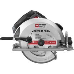 Porter-Cable 15 Amp Heavy-Duty Circular Saw - Includes Tradesman 15 Amp Heavy-Duty Circular Saw - Carbide Tipped Thin Kerf Framing Blade, Rip Fence, Wrench, Kitbox Product Features 15 AMP, 5600 RPM motor Worx Power Tools, Delta Power Tools, Power Tools For Sale, Cheap Power Tools, Cool Tools, Porter Cable Tools, Best Cordless Circular Saw, Miter Saw Reviews, Small Table Saw