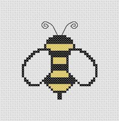 Bumble Bee Cross Stitch (Printable PDF Pattern) Cute / Insect / Outdoors / Baby via Etsy Cross Stitch Cards, Cross Stitch Animals, Cross Stitching, Cross Stitch Embroidery, Cute Cross Stitch, Cross Stitch Designs, Cross Stitch Patterns, Beading Patterns, Embroidery Patterns