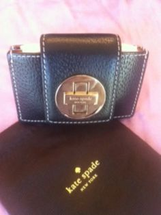 AUTHENTIC (NWT) Kate Spade Abby Wellesley small Black Wallet - $80