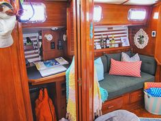 Welcome to our humble abode! :)))This is home. Sailing vessel LAHO. Pronounced la-hoe, like ta-hoe. She's a 1982 37-foot Endeavour B Plan sailboat.And we couldn't love her more!!!!!!!!Our boat really has just about everything we could want or need (minus a watermaker...and washing machine if…