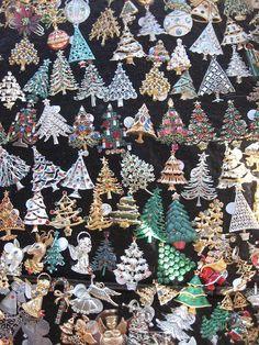 Vintage Christmas tree pins