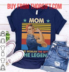 Mom The Woman The Myth The Legend | Mom Gifts | Mom Shirts | Gifts For Mom | Gift Ideas For Mom – Fine Public Mothers Day Shirts, Presents For Mom, Mom Gifts, Shirts With Sayings, Best Mom, Public, Gift Ideas, Woman, T Shirt