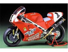 The Tamiya 1/12 Ducati 888 Superbike Racer is a plastic model kit in the Tamiya 1/12 Motorcycle Plastic Model Kits range.