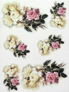 Rice Paper for Decoupage, Scrapbook Sheet, Craft Paper Pastel Roses in Crafts, Multi-Purpose Craft Supplies, Crafting Paper | eBay!