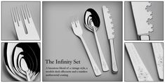 "Playful concept rendering of Fractal Cutlery! ""The Infinity Set"""