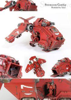 Blood Angels Stormraven Gunship (Weathered) - Forum - DakkaDakka | My other car is a Land Raider.