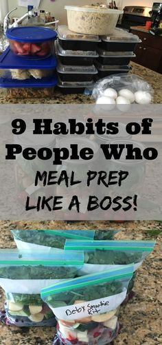 9 Habits of People Who Meal Prep Like a Boss! - Organize Yourself Skinny 9 Habits of People Who Meal Prep Like a Boss! If you are trying to master weekly meal prep these habits will help out for sure! Healthy Meal Prep, Healthy Snacks, Healthy Recipes, Eating Healthy, Advocare Meal Prep, Diet Recipes, Recipies, Clean Eating Recipes For Weight Loss, Kid Snacks