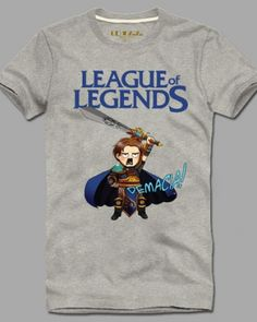 League of Legends t shirt for men plus size short sleeve Q version Garen cotton tee-