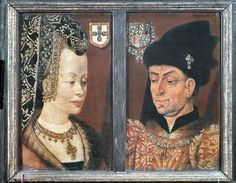 Portrait of Philip The Good, Duke of Burgundy, and his third wife Isabel of Portugal, 1430 Poster Art Print by Flemish School, The same fun hat
