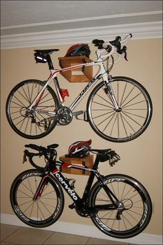 Handcrafted Wood Bike Rack Bike Storage by WoodsmithOfNaples