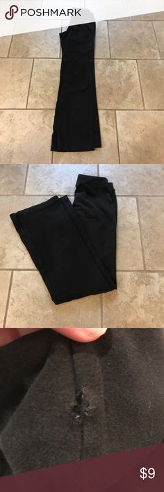 Black dance/yoga pants Black boot cut yoga/dance pants. Fitted at hip. Small flaw pictured above. Otherwise good used condition. Wear to exercise lounge run errands. Wherever you want to go. Pair with other styles to bundle and save. Dansko Pants