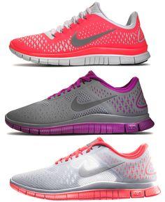 WANT NOW!!! <3 One of each, please! :) Nike Free run 3 womens nikes fashion - #cheap #nike #free