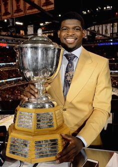 PK Subban won the Norris trophy Montreal Canadiens, Hockey Games, Ice Hockey, Hockey Trophies, Hockey World, Hockey Season, The Ch, National Hockey League, Souvenir