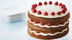 Photo of Gingerbread Layer Cake with Raspberries and Lemon Buttercream