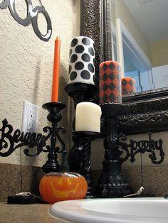 Cute candle display
