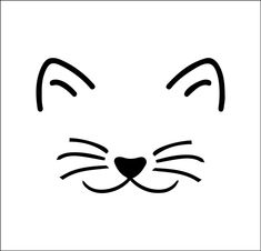 Cat Face Drawing, Cat Outline, Rock Painting Designs, Rock Crafts, Mask Design, Rock Art, Cat Art, Easy Drawings, Painted Rocks