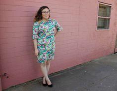 Laurel dress (Colette patterns) in a wild print