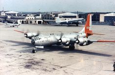 https://flic.kr/p/ah2wXQ   Boeing JB-50A   Boeing JB-50A-10-BO (S/N 46-017) taxiing. Note the F-80 and Flying Tiger Line C-46 in the background. (U.S. Air Force photo)