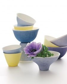 Create a fun palette for your next gathering by dip-dyeing paper cups and bowls.