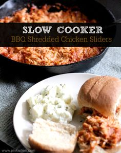ONLY 2 INGREDIENTS~ Slow Cooker BBQ Chicken Sliders