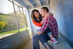engagement photos, couples photography, like the pose Baseball Softball Couple, Softball Wedding, Baseball Couples, Sports Couples, Baseball Field, Baseball Engagement Photos, Themed Engagement Photos, Engagement Couple, Engagement Pictures